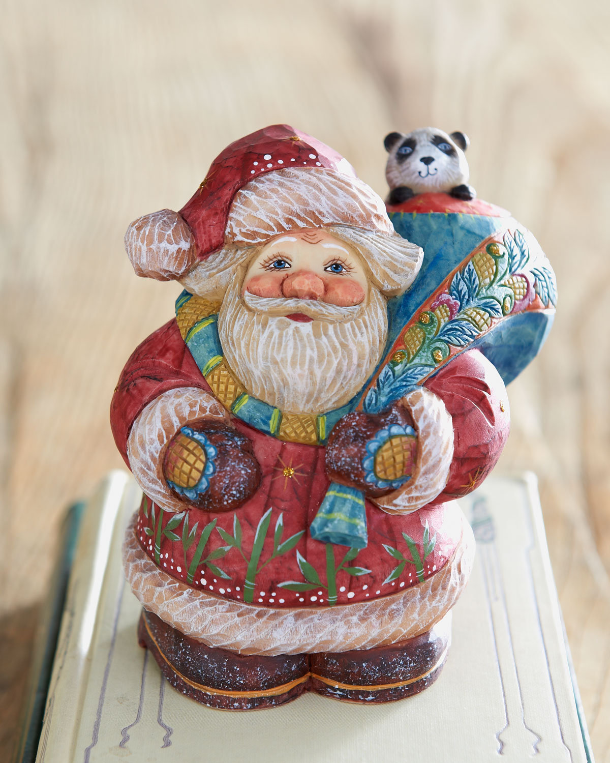 "G. DEBREKHT - ""Santa with Panda"" Box - Horchow"