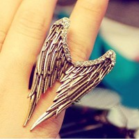 Vintage Adjustable Rhinestone Wing Ring at gofavor.com