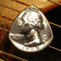 Washington Quarter Guitar Pick ... Your Choice Any Date 1965-1998 ... For Guitar, Bass, Mandolin, Ukulele, Banjo ... FREE SHIPPING