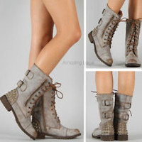 combat boots in Women&#x27;s Shoes | eBay
