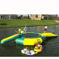 Amazon.com: Kidwise SportsTramp H20- 17' Water Trampoline: Sports & Outdoors