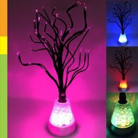 Amazon.com: Color Changing LED Tree Blossom Mood Light Desk Floor Lamp: Home & Kitchen
