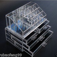 2 in 1 Display Crystal Acrylic Makeup/Cosmetic drawer organizer