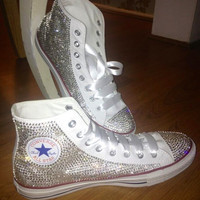 Bedazzled rhinestone converse all star