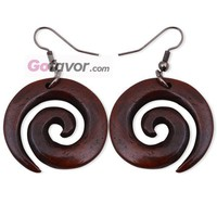 $8.89  Coffe Snail Water Buffalo Horn Dangle Earrings  Gofavor