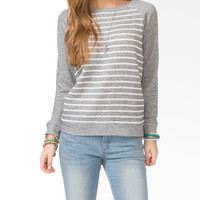 Marled Stripe Raglan Top