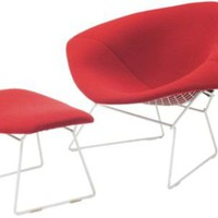 One Kings Lane - Vintage + Market Finds - Harry Bertoia Diamond Chair &amp; Ottoman
