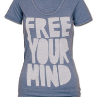 Free Your Mind Women's T-Shirt: Soul-Flower Online Store