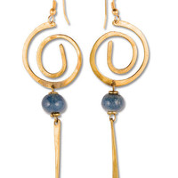 Jacaranda Swirl Earrings: Soul-Flower Online Store