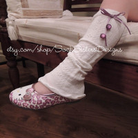 Little Girl Ruffled Leg Warmers for Baby & Toddler, Sock Sisters Designs, wear as boot sock too...