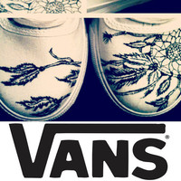 BreakFree Designs on VANS White Canvas -Made to Order