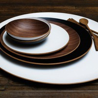 Harabu House - Round Wood Tray with Lacquer Finish