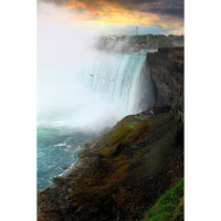Niagara Falls at Sunset romantic honeymoon by GoldenSection
