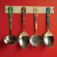 kahmiri utensil set and rack by the forest & co | notonthehighstreet.com