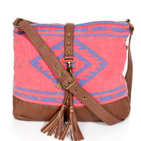 Billabong Hola Jaupa Bikini Red Southwest Print Tote