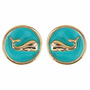 Whale Watching - Classic Whale Earrings - Aqua from the Palm Gifts - Unique Monogrammed Gifts for Every Occasion