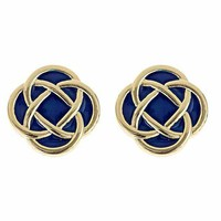 Preppy Knot Earrings - Murphy Style Navy from the Palm Gifts - Unique Monogrammed Gifts for Every Occasion