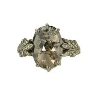Cathy Waterman Rustic Diamond Leaf Side Ring :: TWISTonline.com