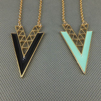 &quot;V&quot; Shape Alloy Long Necklace