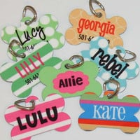 Personalized Pet ID Tag - Big Dots