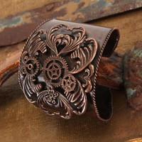 My Associates Store - Steampunk Antique Copper Bracelet Adult
