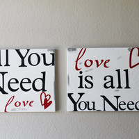 All You Need Is Love Canvas Set