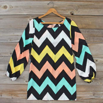 Sweet Nothings Chevron Dress, Sweet Women's Bohemian Clothing