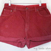 Pink / Raspberry High Waisted Levi&#x27;s Denim by MyLittleShortShop