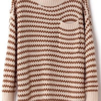 @Free Shipping@ Women Blends Beige Sweater One Size omss011be from Voguegirlgo