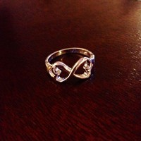 Infinity LOVE heart ring...