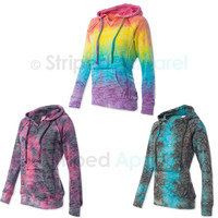 Weatherproof Ladies Courtney V-Notch Hooded Sweatshirt Womens Hoodie S-2XL W1162