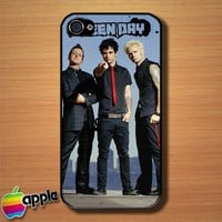 Green Day American Punk Rock Band Custom iPhone 4 or 4S Case Cover