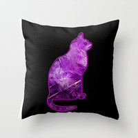 FEATHERKAT Throw Pillow by catspaws | Society6