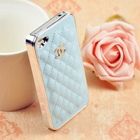 LUXURY BRAND IPHONE 4/4S LEATHER HARD CASE Light Blue