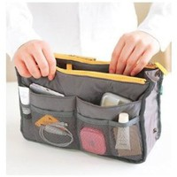 Amazon.com: SODIAL- Handbag Pouch Bag in Bag Organiser Insert Organizer Tidy Travel Cosmetic Pocket: Beauty