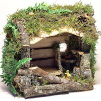 Custom Woodland Fairy House by BetweenTheWeeds on Etsy