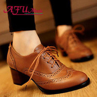 Lace Up Heeled Oxfords+ more colors