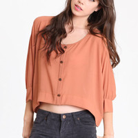 Relaxation Dark Peach Blouse - $34.00 : ThreadSence.com, Your Spot For Indie Clothing  Indie Urban Culture