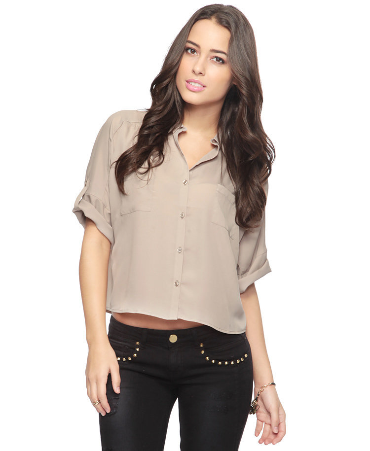 Button Sleeve Shirt | FOREVER21 - 2008585383