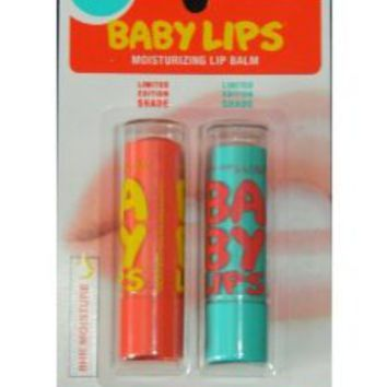 Maybelline Limited Edition Baby Lips Duo Pack - Coral Crush, Twinkle