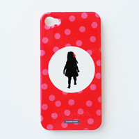 Silhouette Cell Phone Case - Polka Dots - $42.00 : Le Papier Studio, The premier online retailer for custom silhouette gifts, custom wedding invitations and stationery, silhouette jewelry, monogram gifts and silhouette nursery decor.