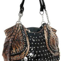 Tiger Print Trimmed Layered Bag Purse FREE SHIP from MyStuff