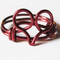 Limited Edition Burgundy Heart Ring.. on Luulla