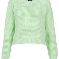 Knitted Textured Crop Jumper - New In This Week - New In - Topshop USA