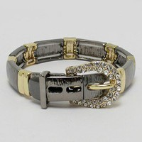 Buckle bracelet Gold/Hermatite