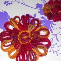 Flower Hair Clip Set - Multi Color
