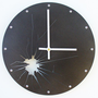 Shattered Metal Wall Clock I (Metallic Black) Custom Colors Available
