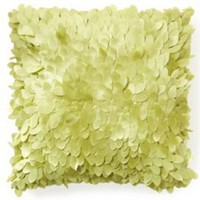 One Kings Lane - Thro - Taffeta Petal Pillow, Lime