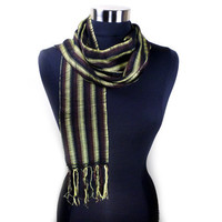 Elegant Skinny Scarf - Contemporary African Kente Cloth