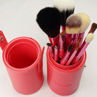 12pcs Pro Travel Makeup Cosmetic Brushes Set + more colors